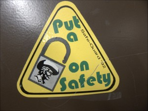 Put a _ on safety